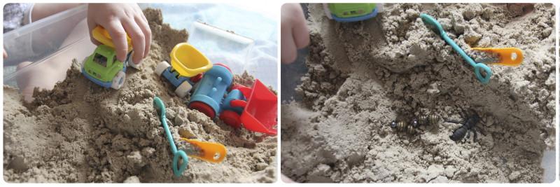 игры с песком для ребенка