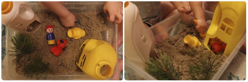 игры с песком в песочнице