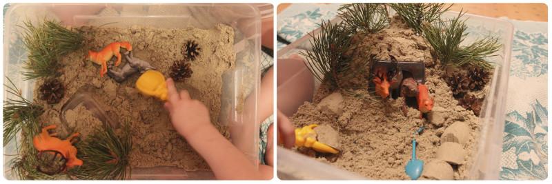 сюжетные игры с песком в песочнице