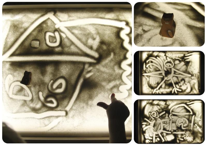 песочное занятие по сказке Капризная кошка