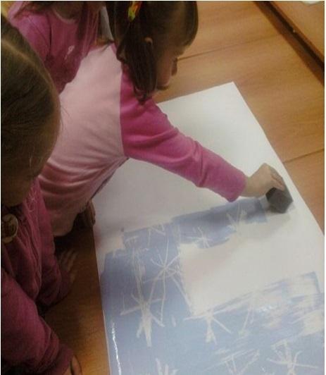 рисование свечкой детям
