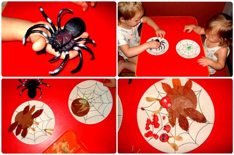 дети и игрушечный паук почему летает паутина