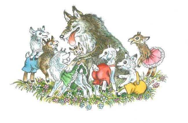 Волк и козлята, русская игра, правила