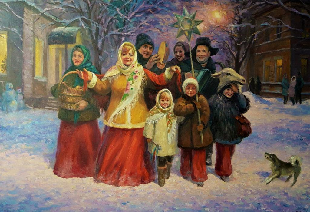 рождественские игры и обычаи на Руси